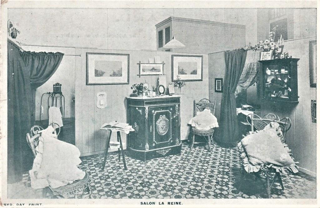 Inside Salon La Reine, 418 George Street, Sydney, N.S.W. - very early 1900s
