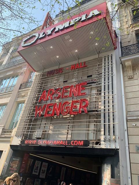 Conférence Arsène WENGER - Olympia - 1er avril