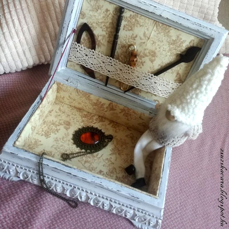 diy painted box, antique (5)