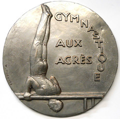 French Gymnastics Medal Galvano obverse