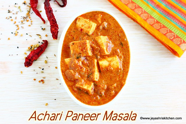 Achari paneer masala