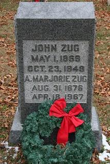 John Zug tombstone