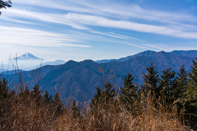 富士山と雁ヶ腹摺山@奈良倉山
