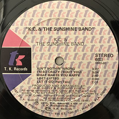 K.C. & THE SUNSHINE BAND:K.C. & THE SUNSHINE BAND(LABEL SIDE-B)