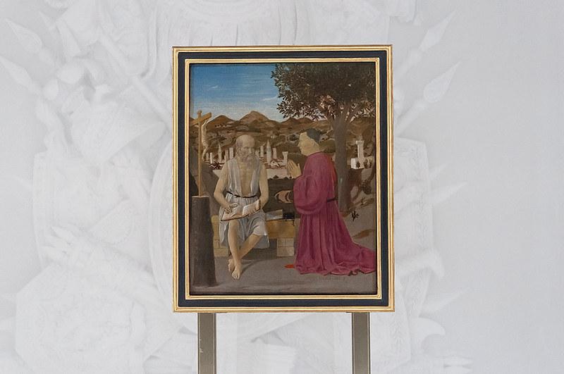Святой Иероним с донатором. 1450-е. Галереи Академии, Венеция