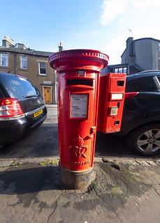 Post Box and Stamp-Vending Machine, Brisbane Road, Largs