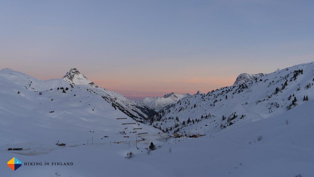 Sunset over Warth