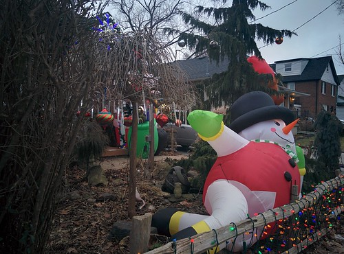 Chris and Adam's decorations (1) #toronto #etobicoke #longbranch #holidays #christmas #frontyard #latergram