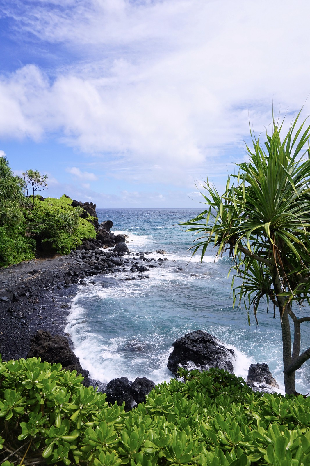Black Sand Beach Waianapanapa State Park Road to Hana Reasons to Visit Maui Hawaii