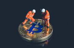 Bitcoin cryptocurrency mining concept