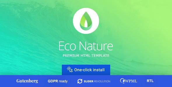 Eco Nature v1.4.4 - Environment & Ecology Theme
