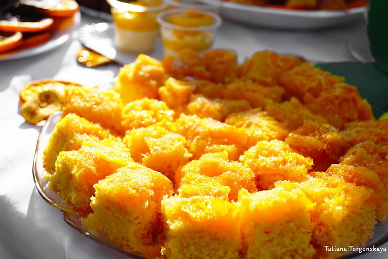 Бисквит с апельсином