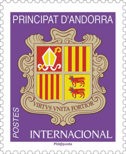 French Andorra - Definitive: Coat of Arms, international rate (January 2, 2019)