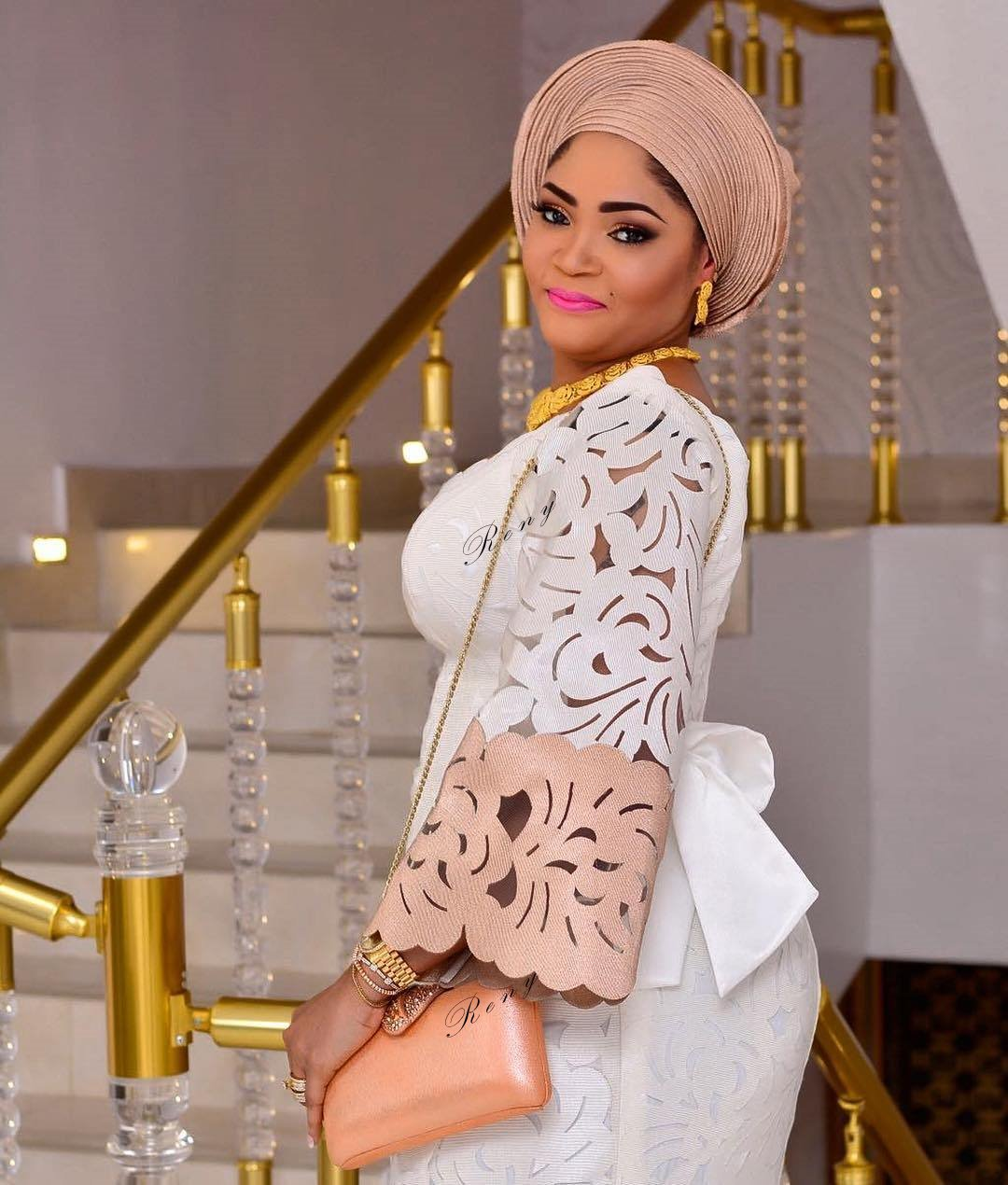 Aso Oke and Lace Attires for Traditional Weddings