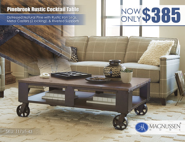 Pinebrook Rustic Cocktail Table_T1755_43