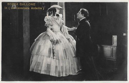 Soava Gallone and Gabriel de Gravone in La cavalcata ardente (1925)