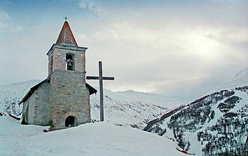 France, la chapelle Ste Madeleine à Poingt-Ravier de Valloire