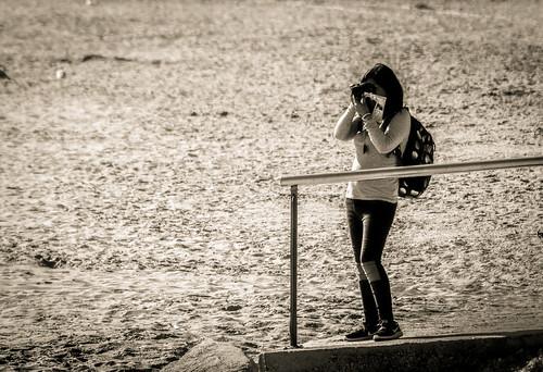 La fotógrafa solitaria.