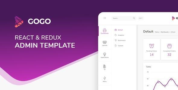 Gogo React v3.0.1 - React Admin Template