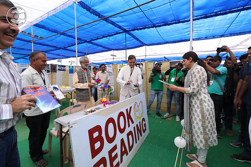 Blessings by Satguru Mata Ji at the pavilion of Book Reading