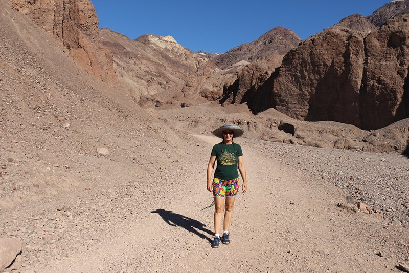 Heading up the trail toward the Natural Bridge in Death Valley