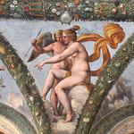 Raffaello (1483-1520) and workshop (Giulio Romano - Giovanni da Udine (per affreschi floreali e festoni) - Raffaelino del Colle - Giovan Francesco Penni) - Venere e Amore - Loggia di Amore e Psiche (1518 circa) - Villa Farnesina - Roma - https://www.flickr.com/people/94185526@N04/