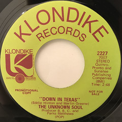 THE UNKNOWN SOUL:DOWN IN TEXAS(LABEL SIDE-B)