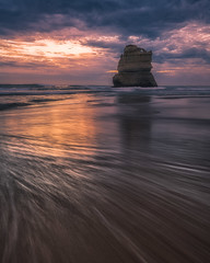 Sea Stack at sunset, Great Ocean Road, Australia