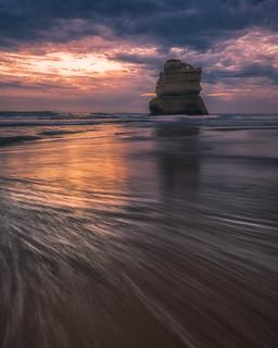 Sea Stack at sunset, Great Ocean Road, Australia