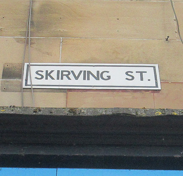 Fourth Skirving Street Sign, Glasgow