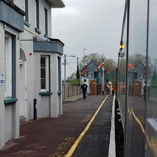 Staff Exchange at Tipperary Station on Monday 7th January, 2019. This line has been under threat of closure for over 40 years now and you can see why.Only about 13 mechanical cabins remain on the Irish Rail network.