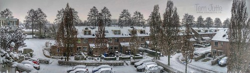 Winter snow panorama, Odijk, Netherlands - 3056