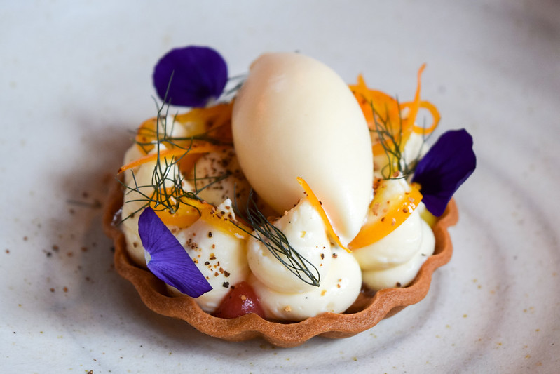 Baked Cheesecake Tart with Bay Leaf Ice Cream at the Fordwich Arms, Canterbury