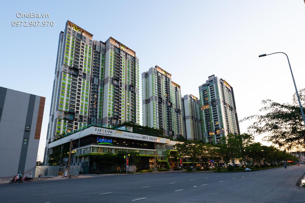 Ảnh thực tế khu căn hộ Vista Verde, tầng trệt là Shophouse