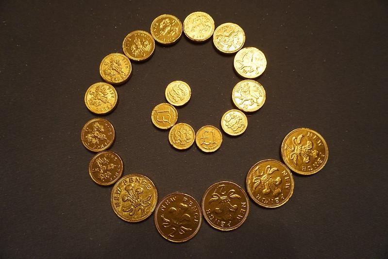 Chocolate Coin Spiral