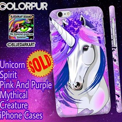 SOLD! Thank You!  #Unicorn #Spirit #Pink And #Purple #Mythical #Creature #iPhone #Cases 👉 http://bit.ly/2SA9vu7   #Design by #BluedarkArt #TheChameleonArt | Colorpur #Shop 👉 http://bit.ly/2tlYm0T   #mythicalcreatures #pinkunicorn #