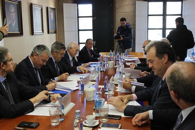 Mesa de trabajo de la constitución de la Alianza del Noroeste en Orense.