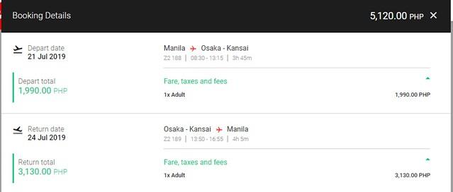 AirAsia Manila to Osaka Roundtrip Fare