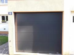 Porte de garage motorisée Gris Anthracite
