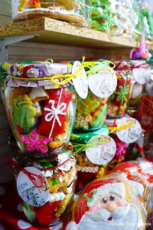 Рождественское печенье в банках