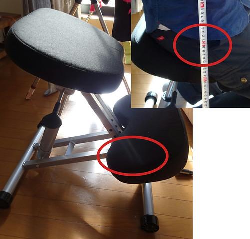 【腰痛対策】バランスチェア(ガス圧昇降タイプ・大人/子供対応)100-SNC038 |サンワダイレクト