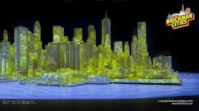 Lower Manhattan in LEGO Bricks