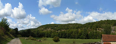 20080913 36499 1014 Jakobus Hügel Wald Wolken Wiese_P01 - Photo of Livernon
