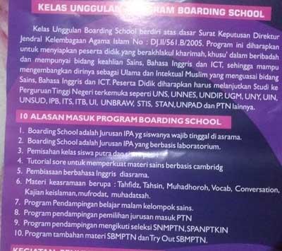 brosur-MAN-1-Surakarta-Boarding-School