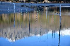 Eaux basses sur le lac
