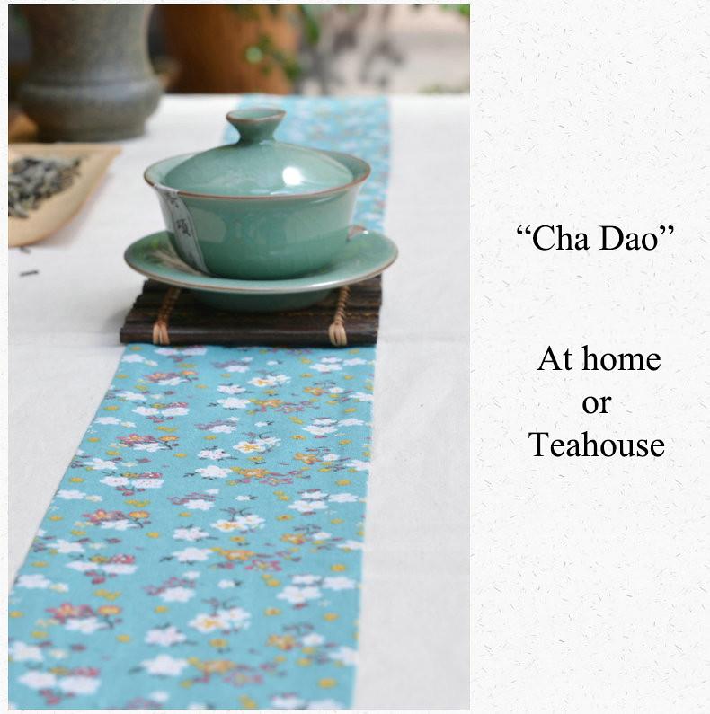 Linen & Cotton Tea Tablecloth