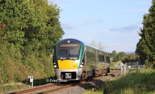 Irish Rail ICR Set 5 at Bansha.