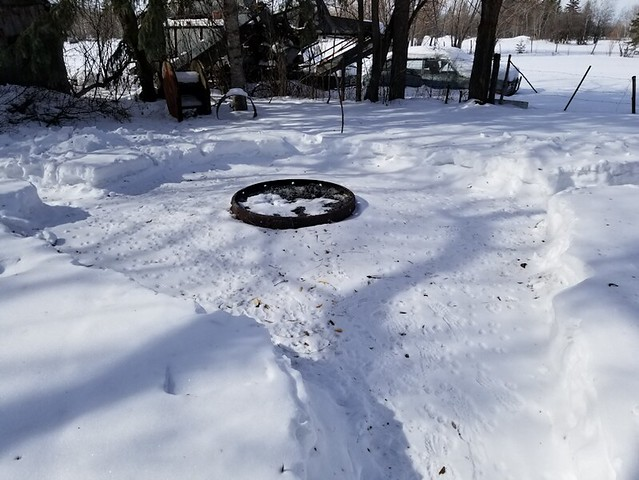 20190311.snow.clearing.inner.yard.firepit1