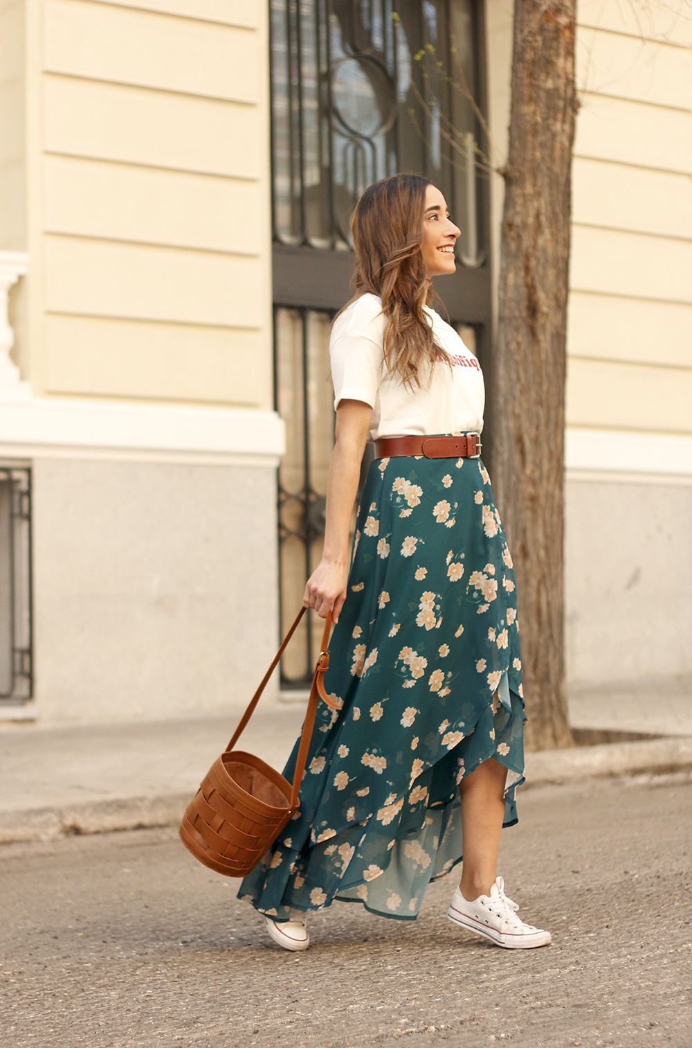 floral maxi converse skirt tshirt find amazon fashion street style outfit 20192