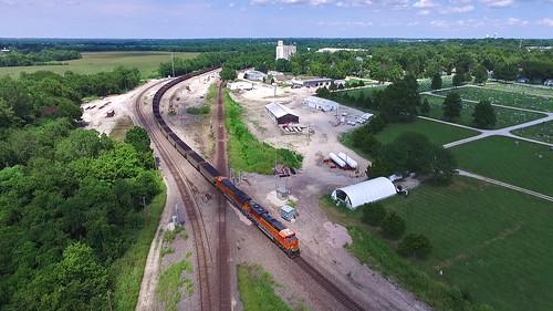 bnsf trains railroads drones